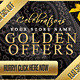 Golden Offers, Sales & Discounts Web Banners