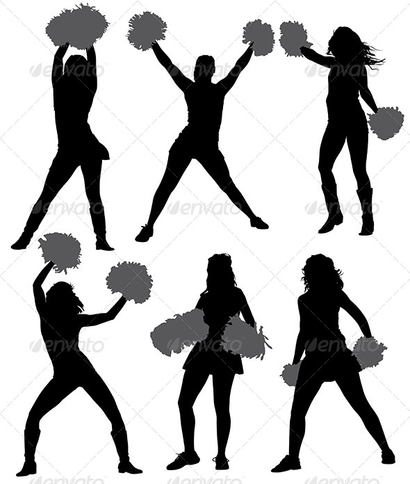 cheerleader silhouette by iamsania graphicriver