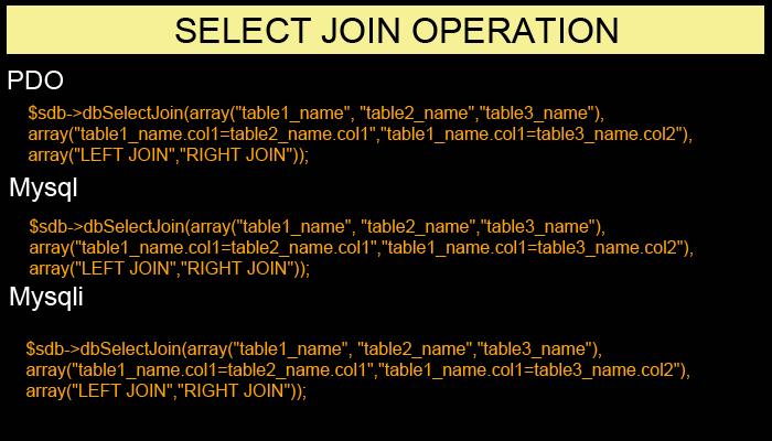 Simplified DB - PDO, Mysqli, Mysql Helper Class