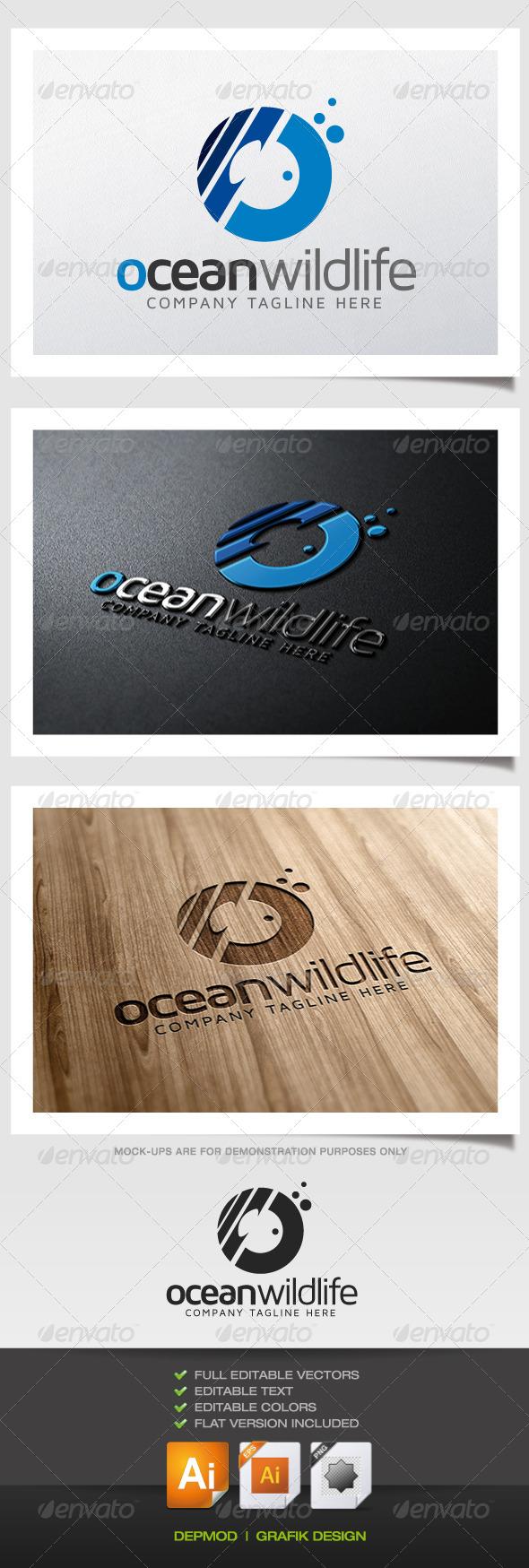 Ocean Wildlife Logo