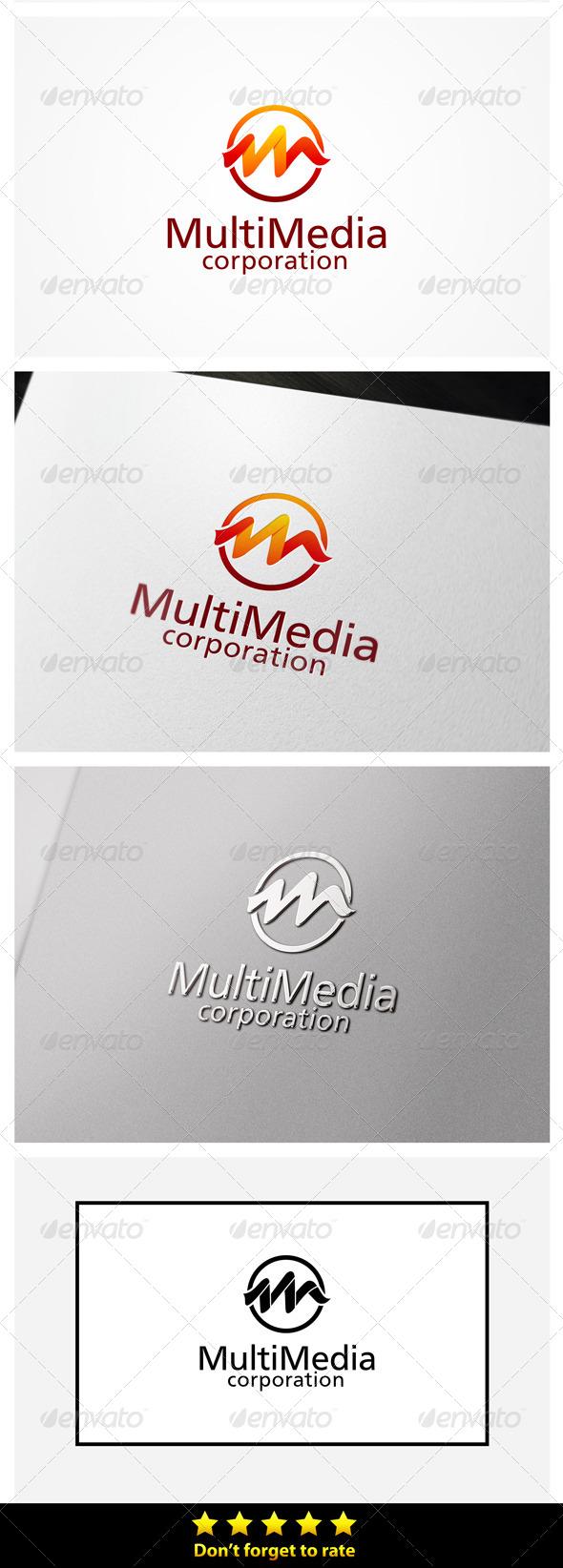 M Letter Media - Letters Logo Templates