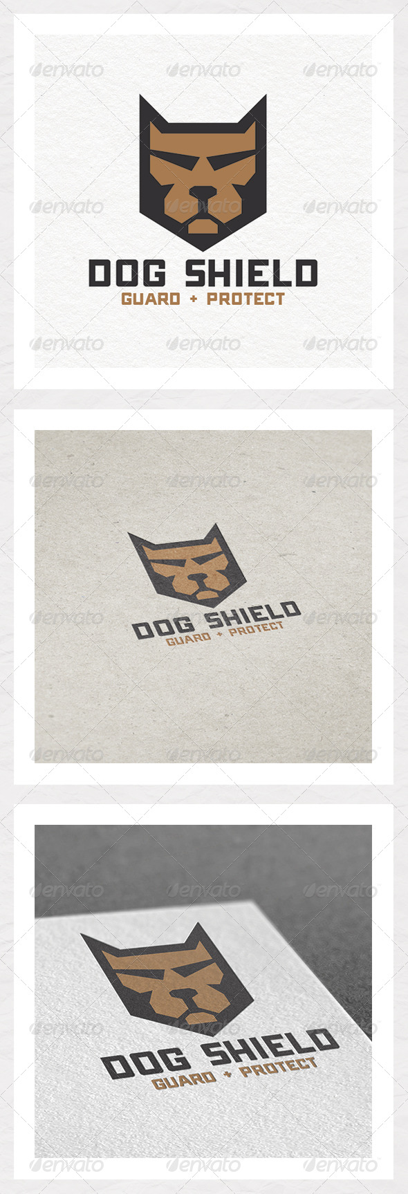 Dog Shield Logo Design