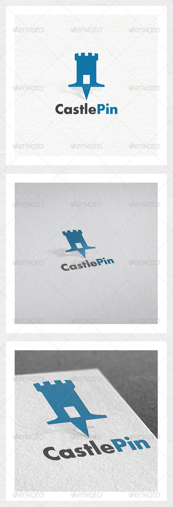 Castle Pin - Objects Logo Templates