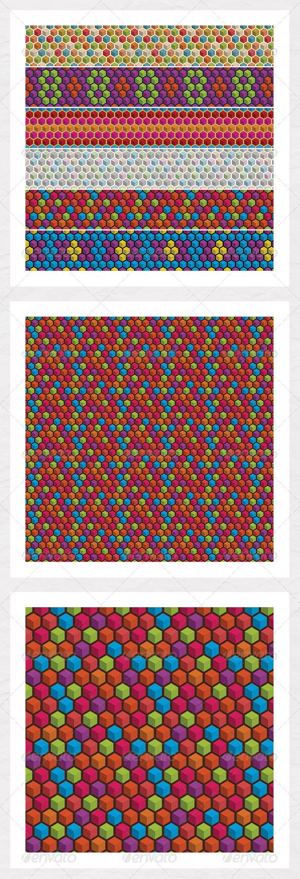 Geometric Cube Seamless Backgrounds - Backgrounds Decorative