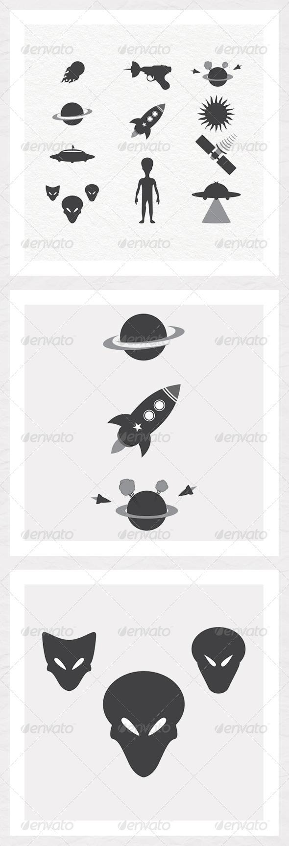 Space Silhouettes - Miscellaneous Conceptual