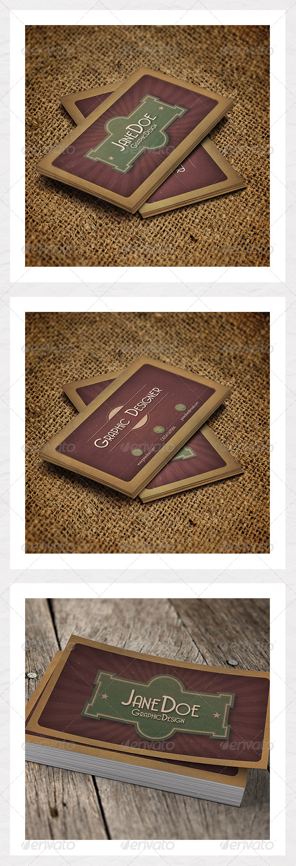 Dark Retro Business Card Template - Retro/Vintage Business Cards
