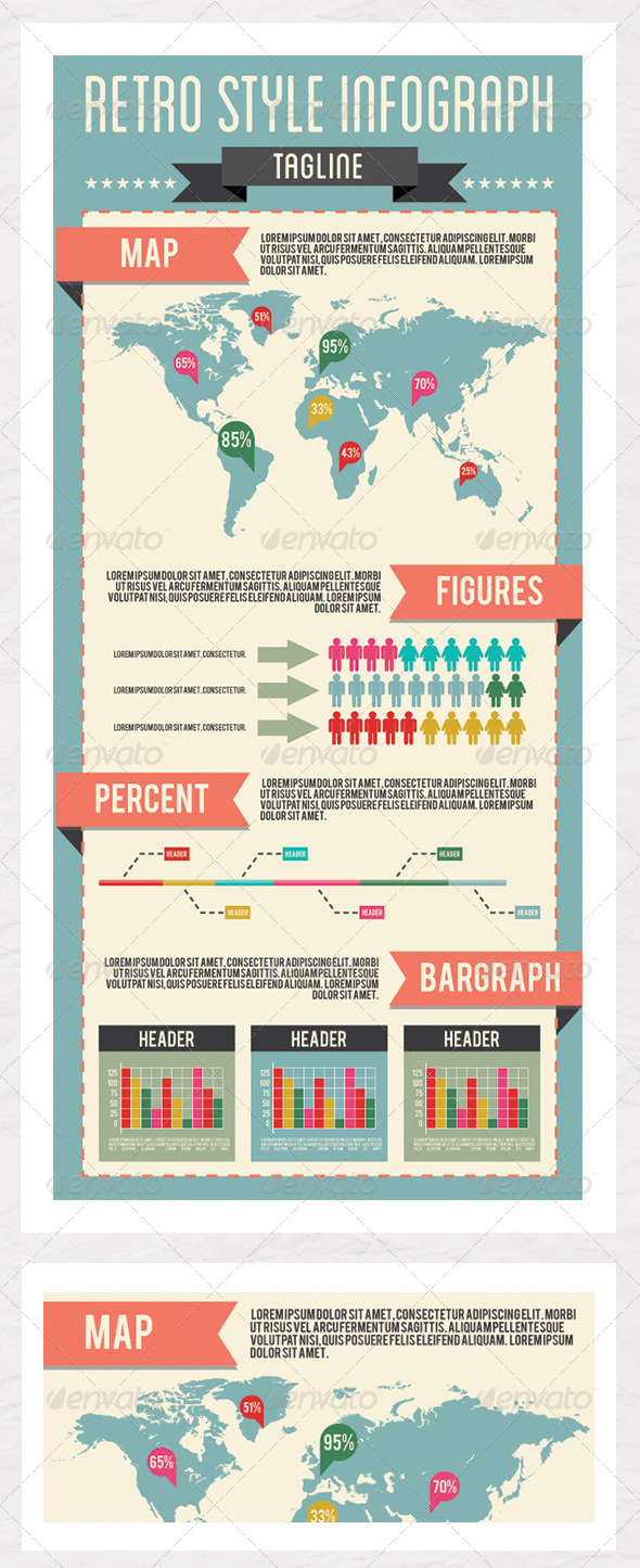 Retro Style Infographic Template - Infographics