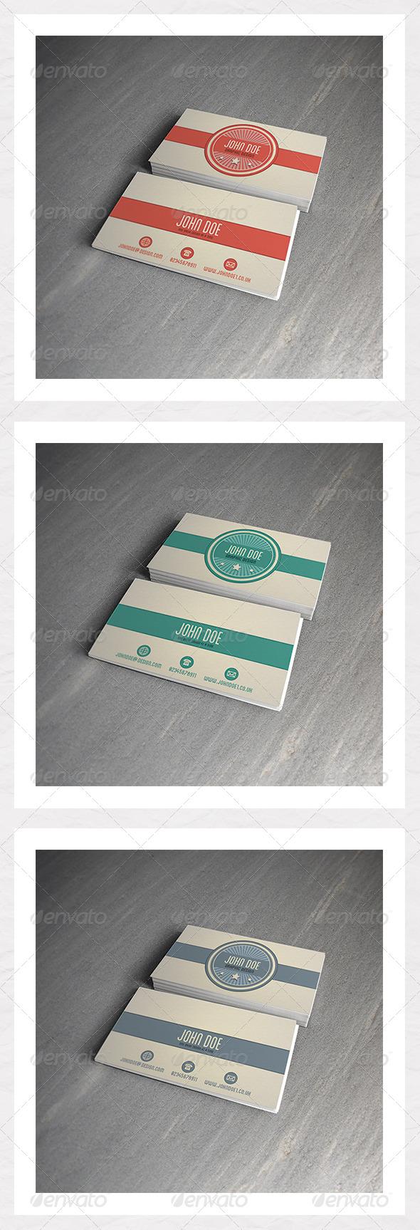 Retro Business Card Template - Retro/Vintage Business Cards