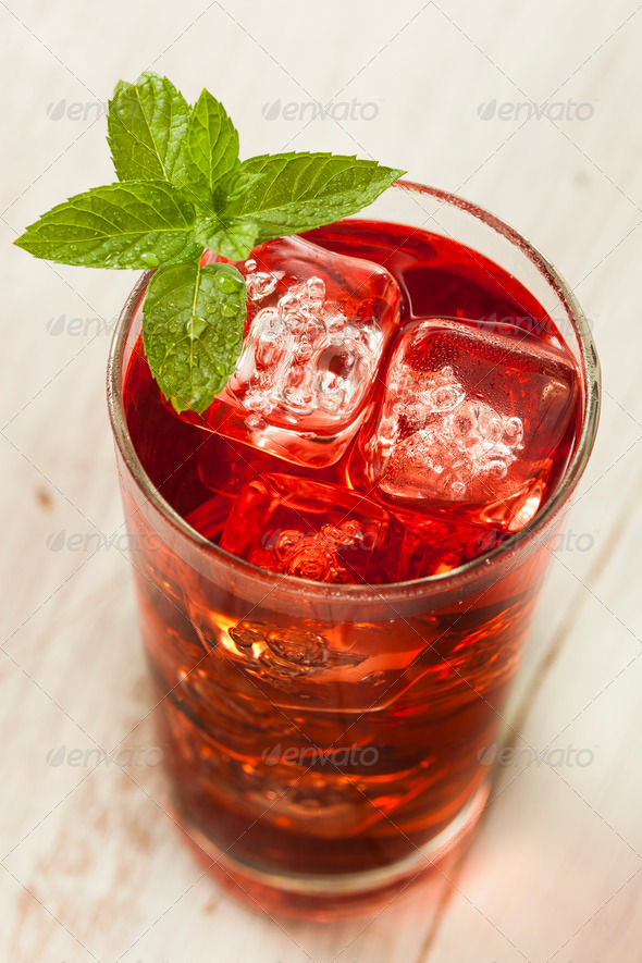 Cold Refreshing Berry Hibiscus Ice Tea Stock Photo By Bhofack2