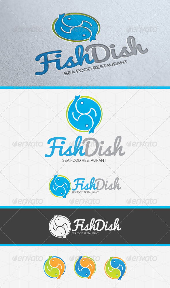 Fish Dish Restaurant Logo Template by GilleDeVille GraphicRiver