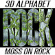 3D Rendered Moss On Rock Alphabet - GraphicRiver Item for Sale