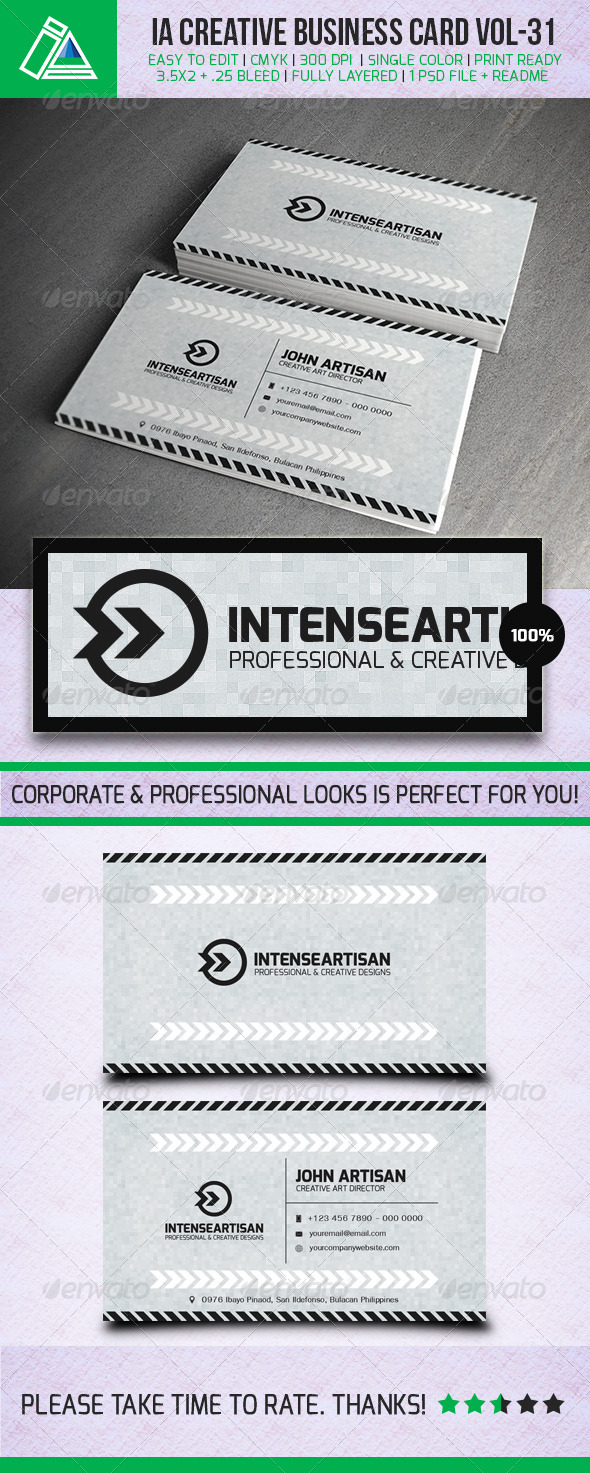 IntenseArtisan Business Card Vol.31 - Creative Business Cards
