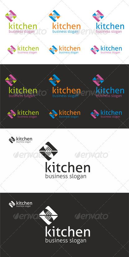 Kitchen Cuisine Fork Logo