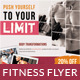 Gym / Fitness Flyer Print Ad - GraphicRiver Item for Sale