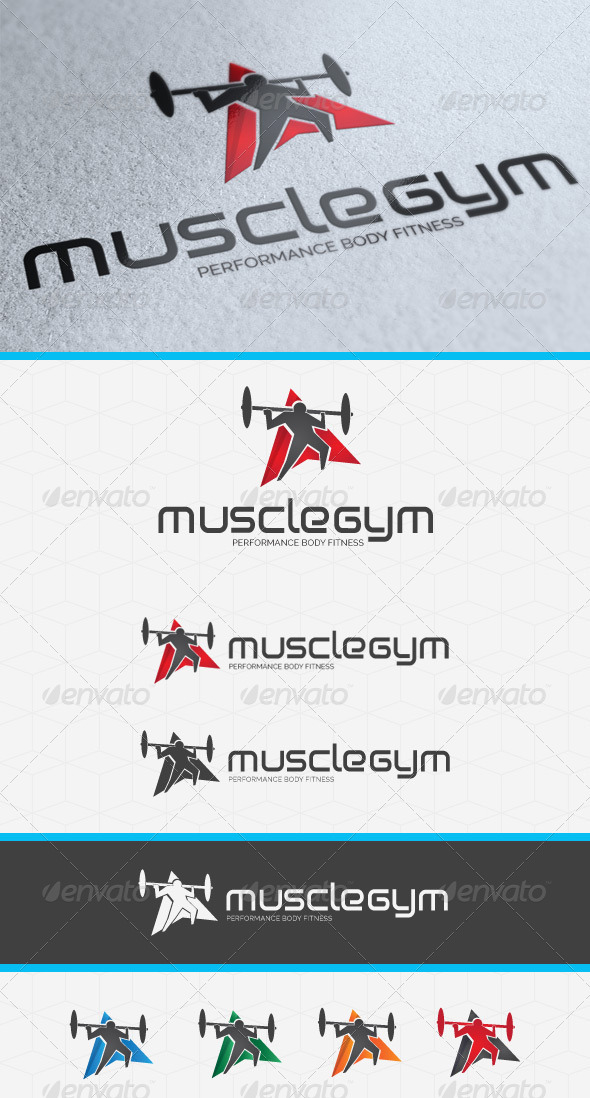 Muscle Gym Logo Template - Humans Logo Templates