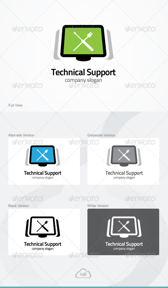 Technical Support Logo Template by LogoHeaven | GraphicRiver