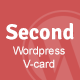 Second Responsive Wordpress V-card Nulled