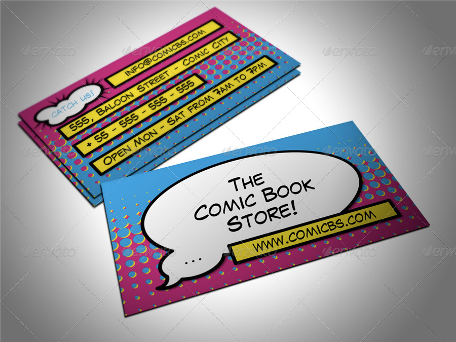 Comic book store business card by freshinkstain graphicriver comic book store business card creative business cards 01comicbcg 02comicbcg colourmoves