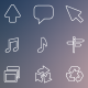 270 Vector Outline Icons - GraphicRiver Item for Sale