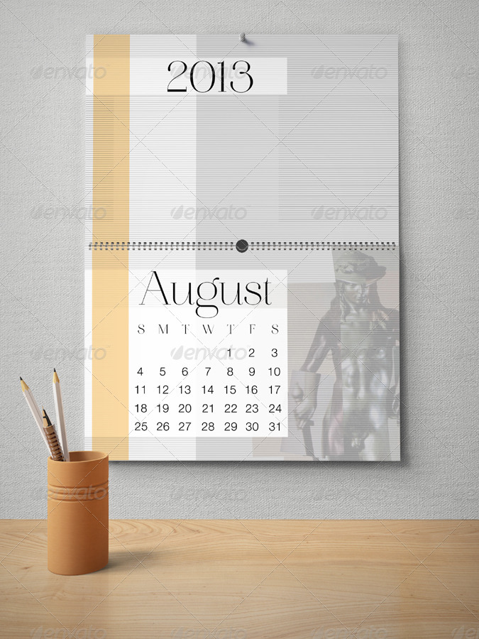 Wall Calendar Mockup Pack By Milostudio Graphicriver