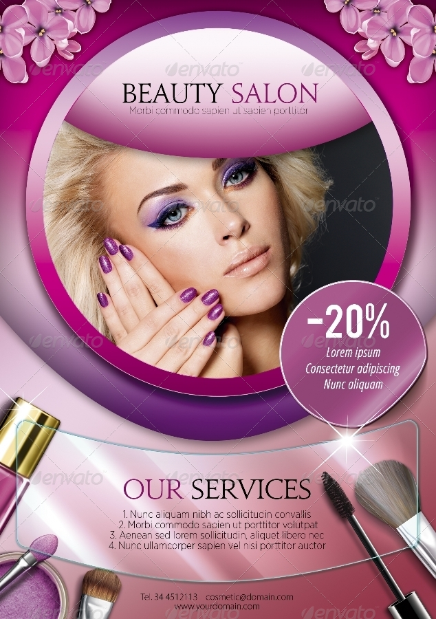 a5 beauty salon flyer � 3 in 1 by enem graphicriver