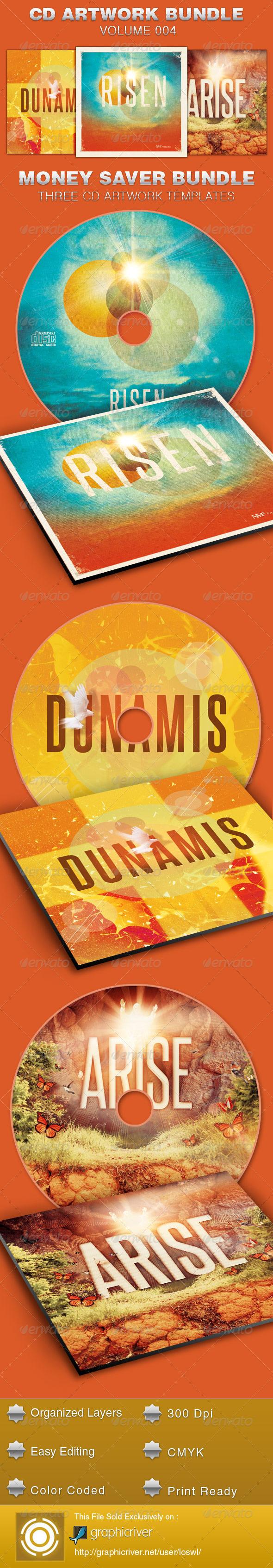 CD Cover Artwork Bundle-Vol 004 - CD & DVD Artwork Print Templates