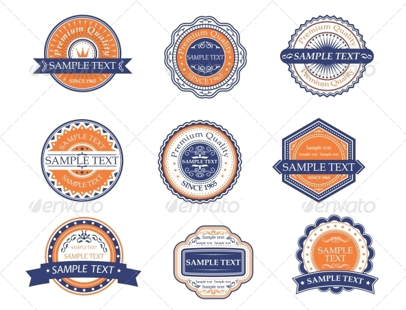 Retro Labels and Frames - Decorative Symbols Decorative