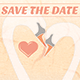Swans Save The Date Card - GraphicRiver Item for Sale