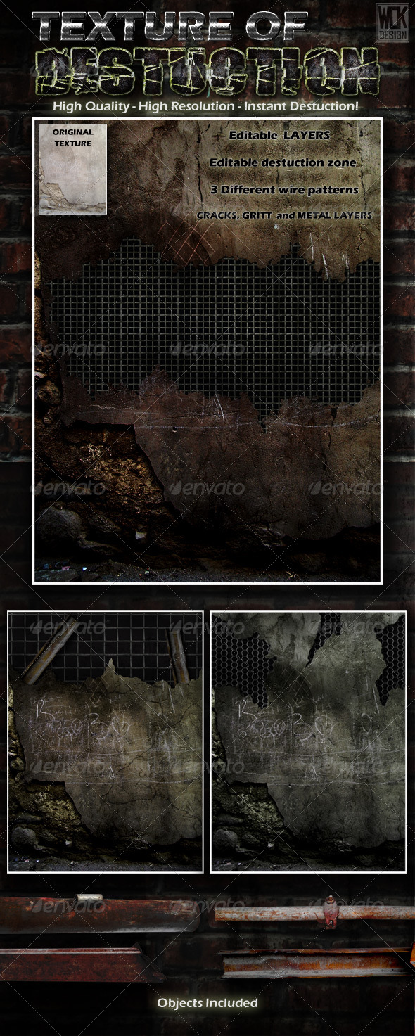 Destructible Wall Background Texture - Backgrounds Graphics