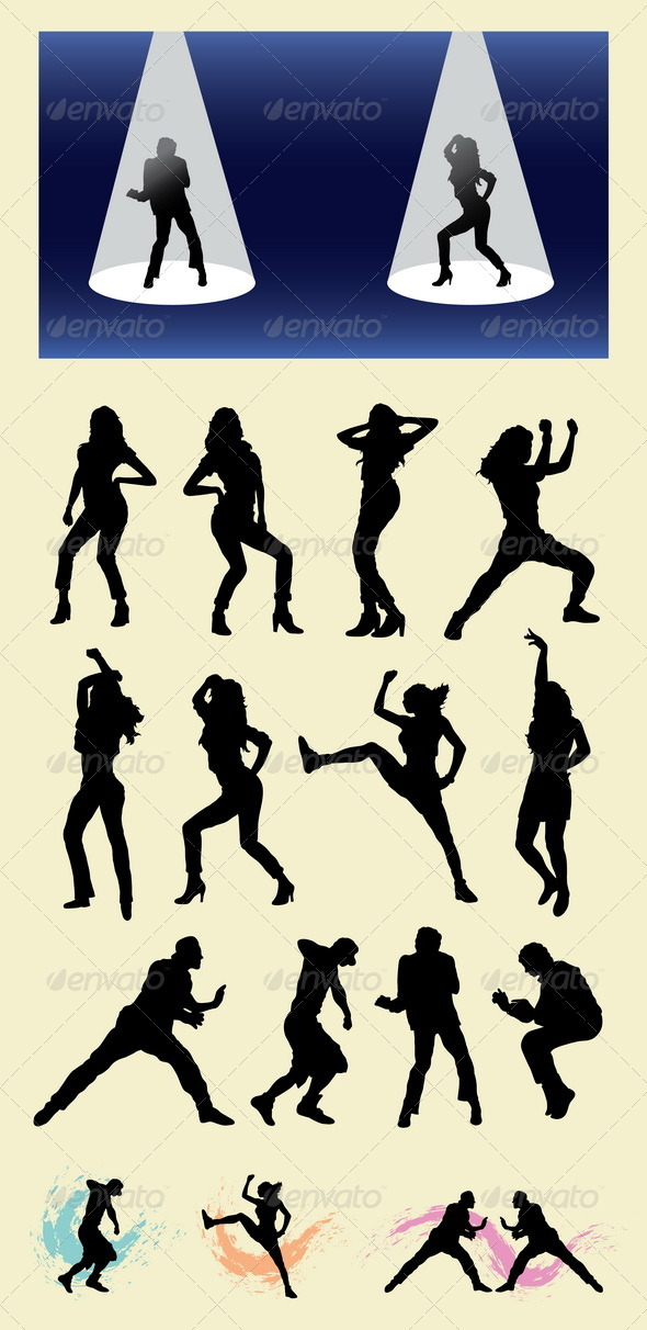Dancer Silhouettes - People Characters