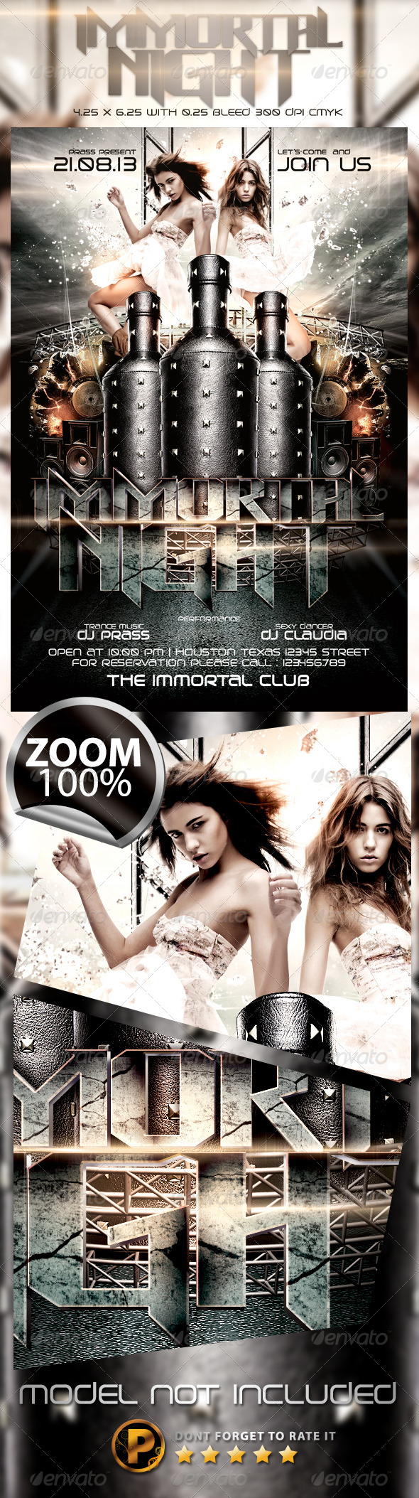 Immortal Night Flyer Template - Clubs & Parties Events
