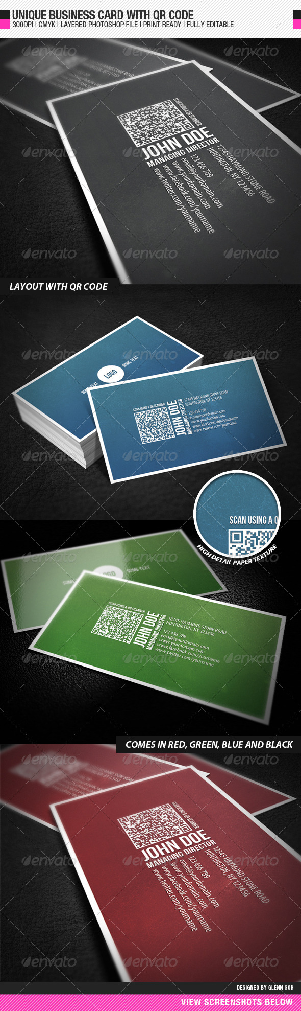 Business Card With QR Code - Corporate Business Cards
