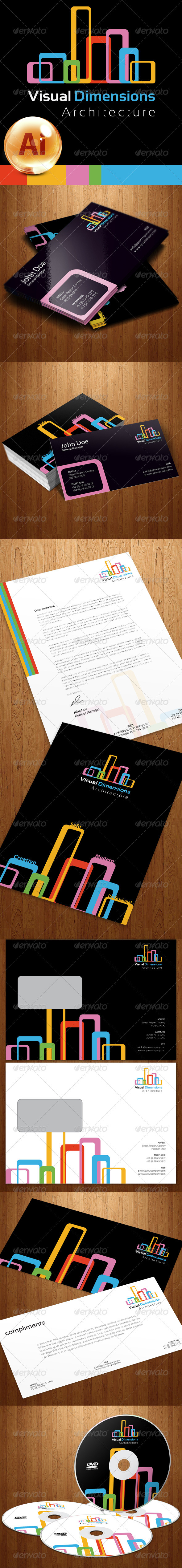 Visual Dimensions Corporate Identity - Stationery Print Templates