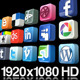 23 Videos of 3D Social Media Icons Rotating - Loop - VideoHive Item for Sale