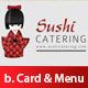 Sushi Business card & menu brochure Set Premium - GraphicRiver Item for Sale