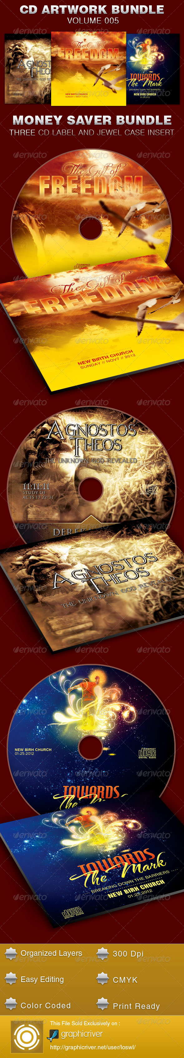 CD Cover Artwork Bundle-Vol 005 - CD & DVD Artwork Print Templates