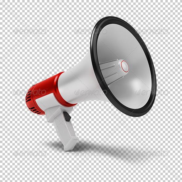 3d megaphone template