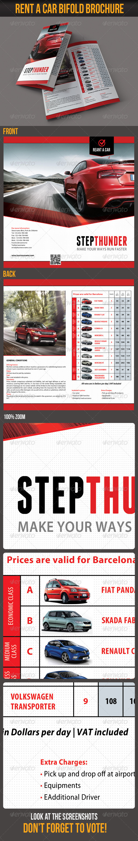 Rent A Car Bifold Brochure