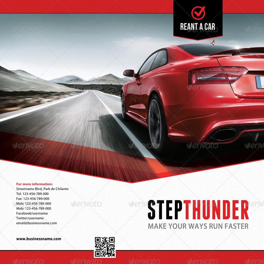 rent a car bifold brochure by rapidgraf
