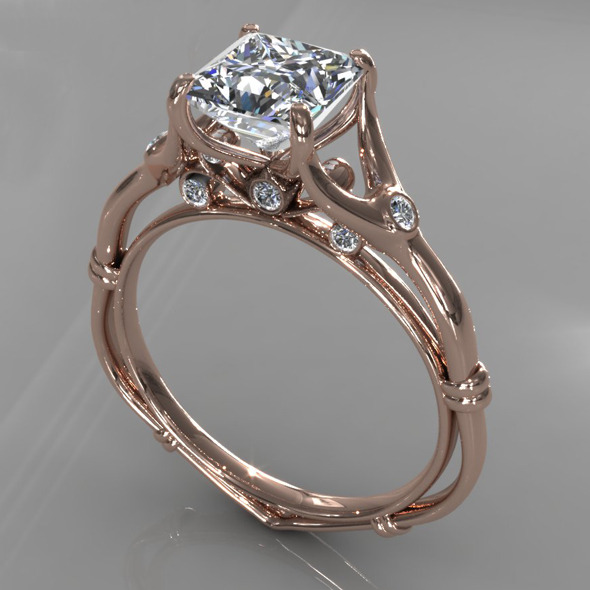 Diamond Ring Creative 009 - 3DOcean Item for Sale