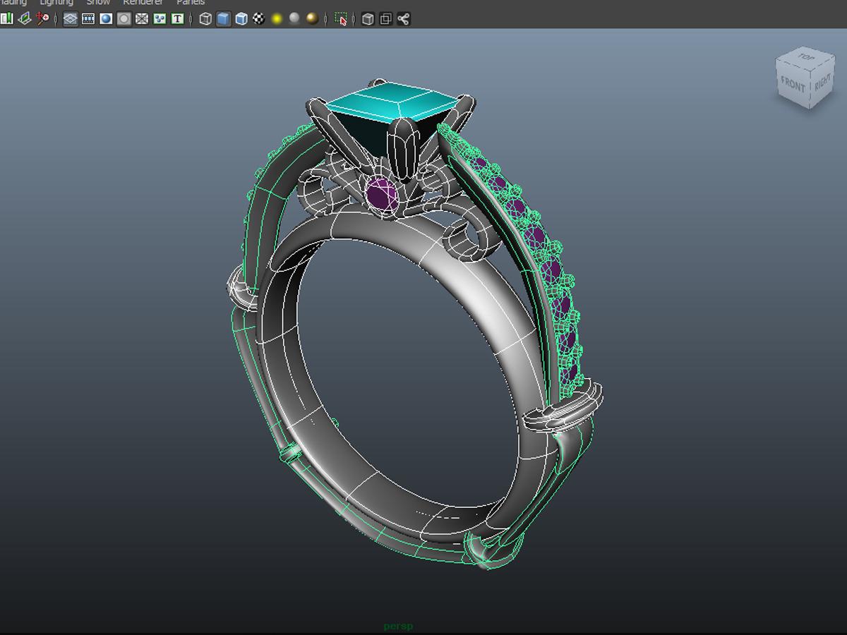 diamond ring creative 011 by jewelrycadcam168 3docean