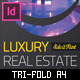 Luxury Real Estate - Indesign Trifold Brochure - GraphicRiver Item for Sale