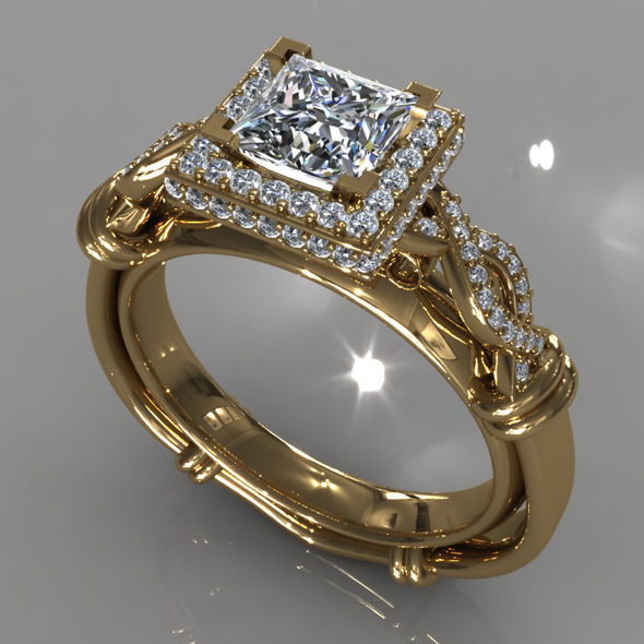 Diamond Ring Creative 013 - 3DOcean Item for Sale