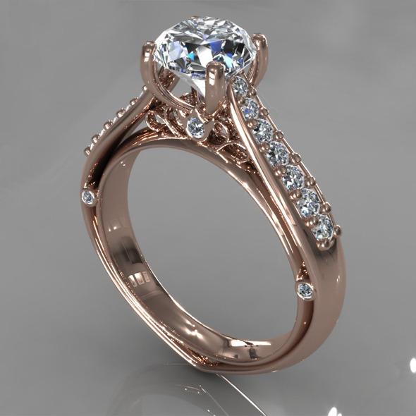 Diamond Ring Creative 017 - 3DOcean Item for Sale