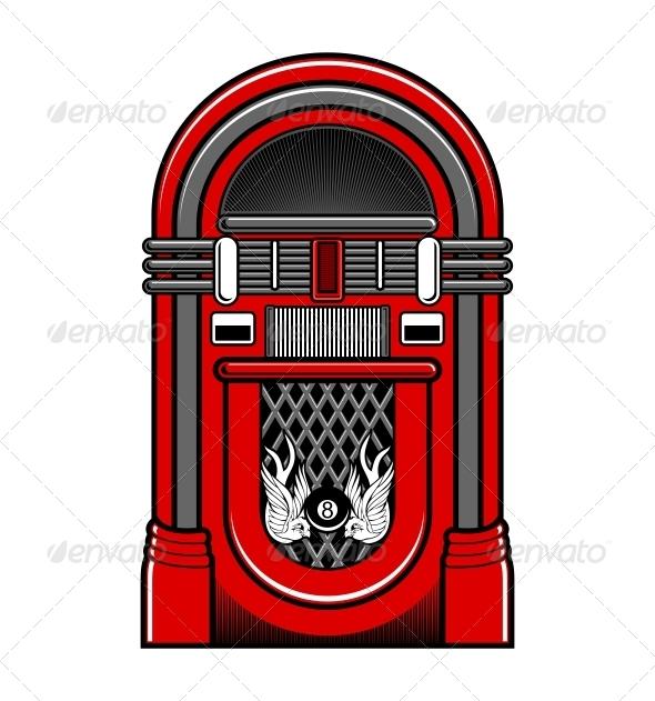 Classic Jukebox Vector