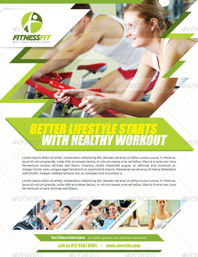 Fitness Flyer Fitness Flyer  Flyers Fitness Flyer  Flyer