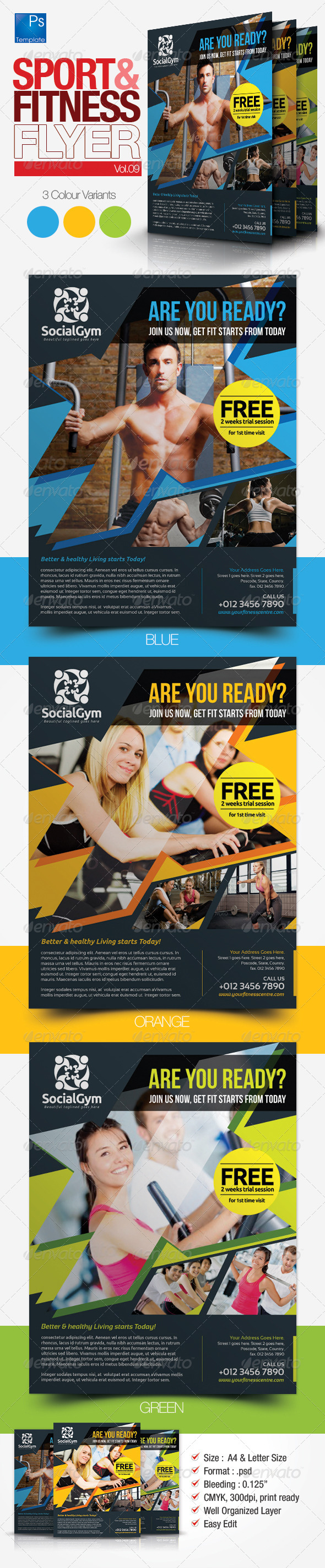 Fitness Flyer Vol.9 - Sports Events