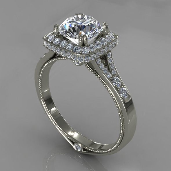 Diamond Ring Creative 024 - 3DOcean Item for Sale