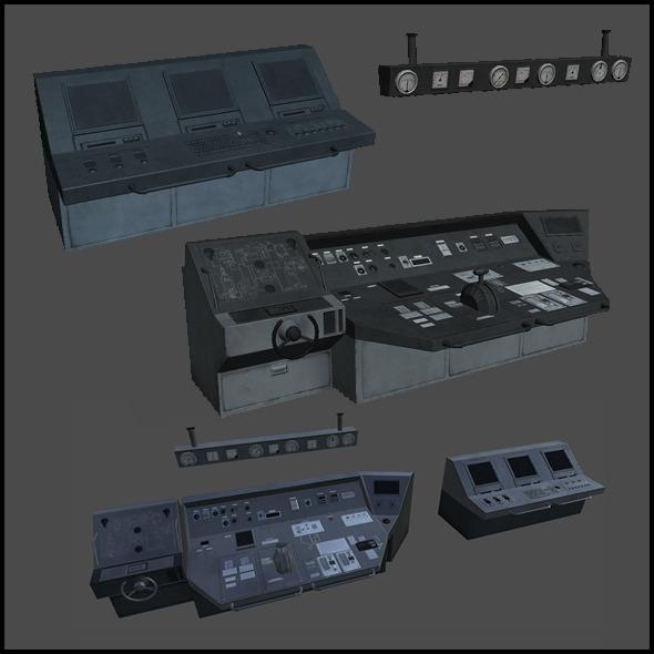 Ship's bridge - 3DOcean Item for Sale