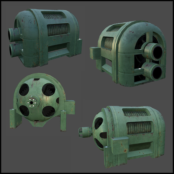 Electric Generator - 3DOcean Item for Sale
